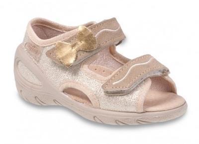065X111 28 - SUNNY - sandálky Befado, zlatá