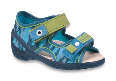 065X113 29 - SUNNY - sandálky befado,modré