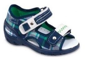065X068 30 - SUNNY - sandálky Befado, modré káro