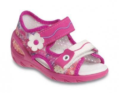065X092 26 - SUNNY - sandálky Befado, růžová síť
