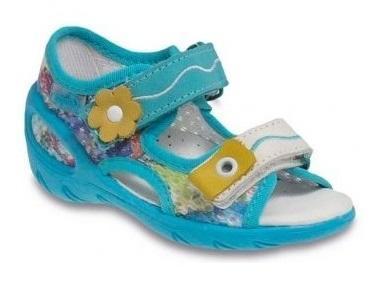 065X094 26 - SUNNY - sandálky Befado, modrá síť