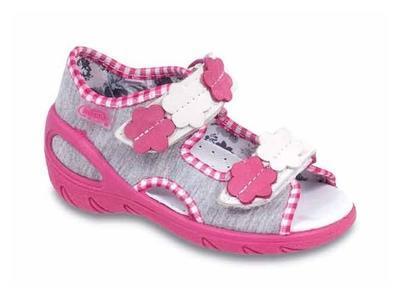 065X064 30 - SUNNY - sandálky Befado, dívčí šedá