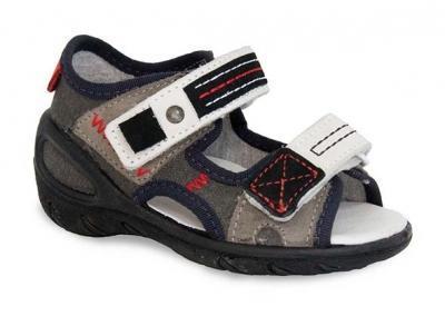 353X002 26 - SUNNY - sandálky Befado, šedá