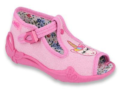 213P115 18 - dívčí sandálky růžové, jednorožec