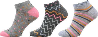 KM03 - kotníkové ponožky MULTIPACK, 23-25 (35-38)