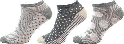 KM04 - kotníkové ponožky MULTIPACK, 23-25 (35-38)