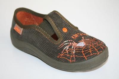 726X136 25 - chlapecké bačkorky, hnědá, pavouk