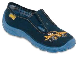 975X093 25 - chlapecké bačkorky, modré, žluté auto