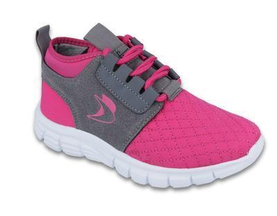 516Y033 34 - botasky SPORT, šněrovací, růžovo-šedá