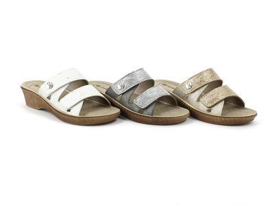 INBLU - COBROS dámské pantofle bílé 35