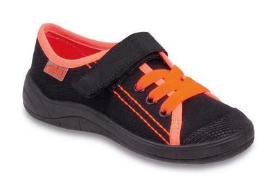251Y007 31 - chlap.tenisky 1SZ, černé s oranžovou