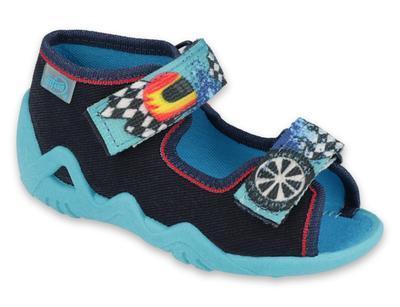 250P095 18 - chlapecké sandálky 2SZ modré,SUPERCAR