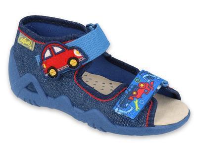 350P005 18 - chlapecké sandálky auto,kožená stélka
