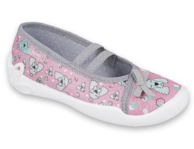 116X282 25 - dívčí Befado, 2 gumky, růžová, pejsci