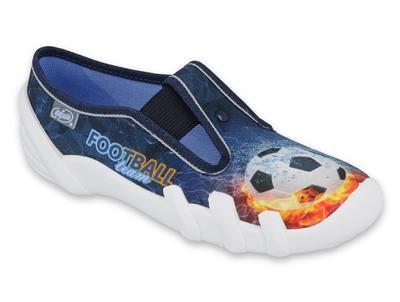290Y209 31 - chlapecké bačkorky modré, FOOTBALL