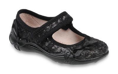 332P028 18 - balerínky na SZ, černá, mašlička