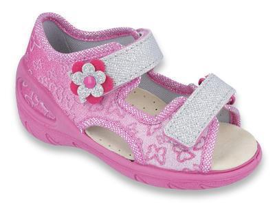 065X123 26 - SUNNY dív.sandálky, růžová, motýlci