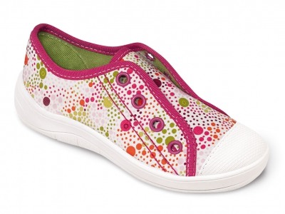 107X052 25 - dívčí tenisky BEFADO, bílo-růžová
