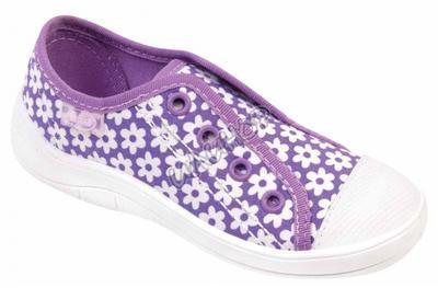 107X053 25 - dívčí tenisky BEFADO, fialová,kytičky
