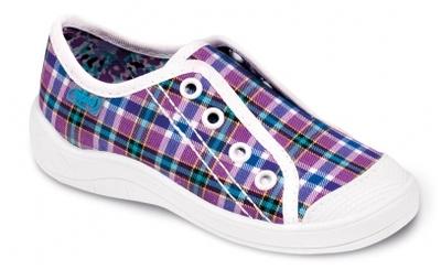 107X070 25 - dívčí tenisky BEFADO, fialové káro