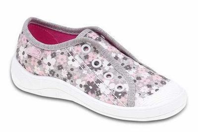 107X084 29 - dívčí tenisky BEFADO, šedo-růžové