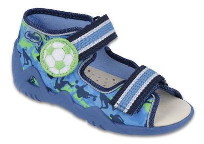 350P002 18 - chl.sandálek 2SZ,kožená stélka,m-zel.