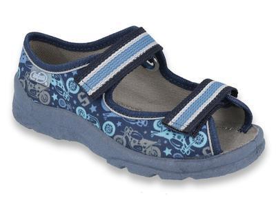969Y159 31 - chlapecké sandálky Befado modré, MOTO