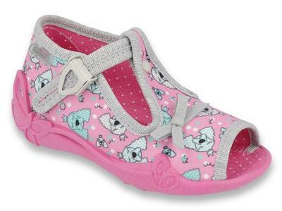 213P120 18 - dívčí sandálky Befado růžové, pejsci