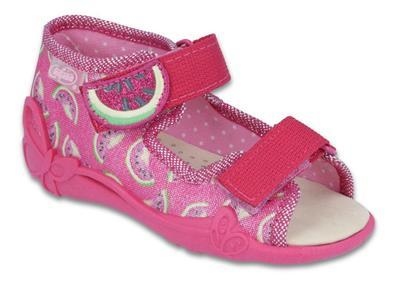 342P004 18 - dí.sandálek 2SZ,kožená stélka,růžová