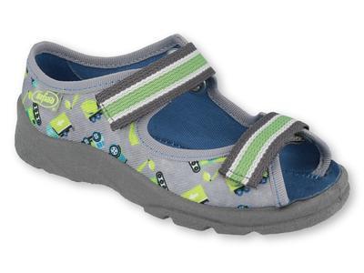 969X155 25 - chlapecké sandálky Befado šedé, bagr
