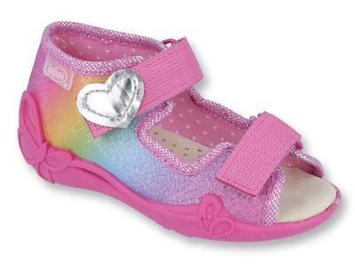 342P005 18 - dí.sandálek 2SZ,kožená stélka,duhová