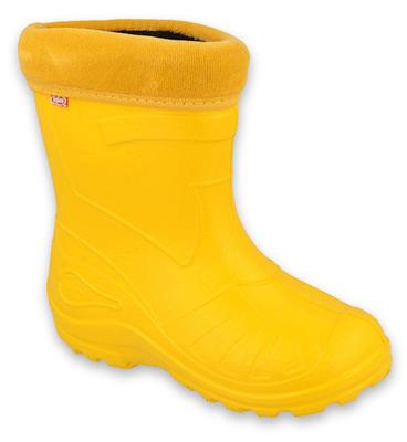 162Y107 30  gumáčky Befado zateplené vložkou žluté