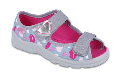 969X133 25 - dí.sandálek s patou, šedá, srdíčka