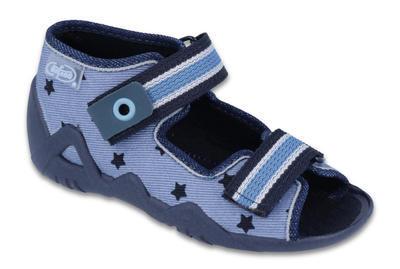 250P079 18 - chl.sandálek 2SZ,sv. modrá, hvězdičky