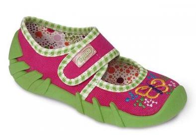 111P004 20 - balerínky Befado růžová, motýlek