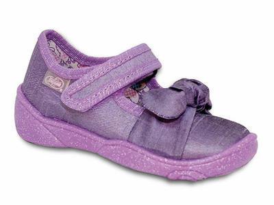 307P005 18 - balerínky Befado fialové, mašlička