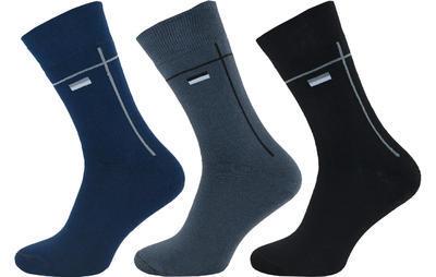 1233 - Pánské ponožky froté vzor, 26-28 (39-42)