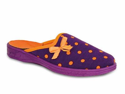 707Y341 33 - dívčí pantofle Befado ZŠ, fial.,tečky