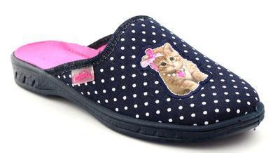 707Y370 31 - dívčí pantofle Befado ZŠ, kočička