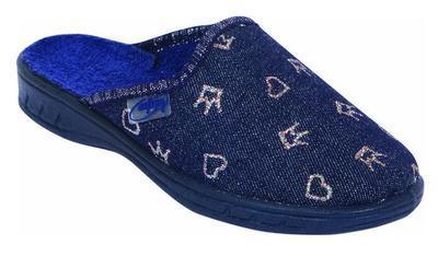 707O185 29 - dívčí pantofle Befado ZŠ, srdíčka