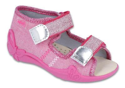 342P001 18 - dí.sandál. 2SZ,kožená stélka,růžová
