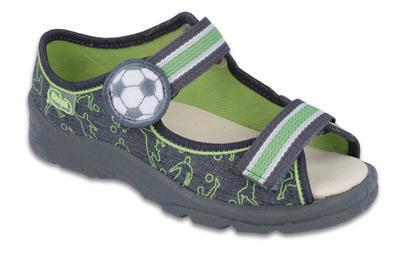 869Y131 31 - chl.sandálek,kožená stélka,šedá