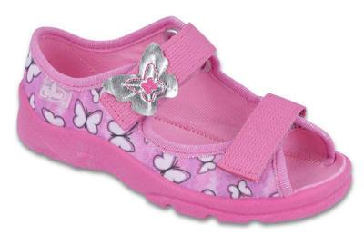 969X134 25 - dívčí.sandálek s patou,růžová,motýlci