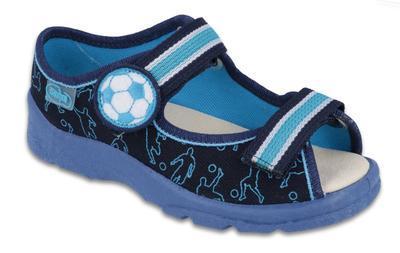 869Y130 31 - chl.sandálek,kožená stélka,modrá