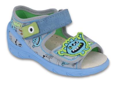 433P031 20 - SUNNY - chl.sandálky, šedá, strašidlo
