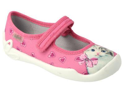 114X447 25 - dívčí balerínky Befado růžové, kočka - 1