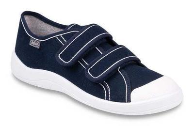 124Q005 - dět.tenisky-2 suché zipy,modrá,vel.37