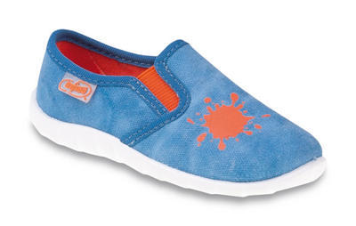 471P006 19 - chl.nazouvací, modrá, oranž. skvrna