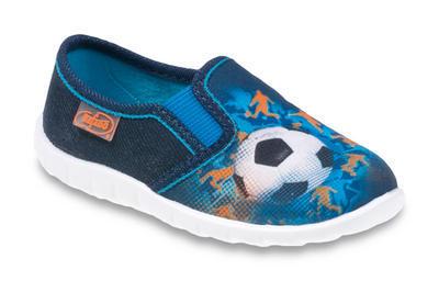 471P012 18 - chl.nazouvací, modrá, fotbal.míč