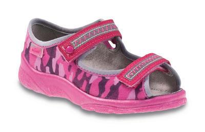 969X120 25 - dívčí sandálek s patou, růžový maskáč